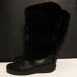 """Timberland Leather/Fur 14"""" Roll-Top Boots"""